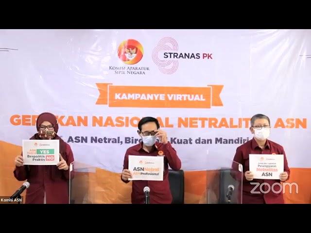 Kampanye Virtual Gerakan Nasional Netralitas ASN