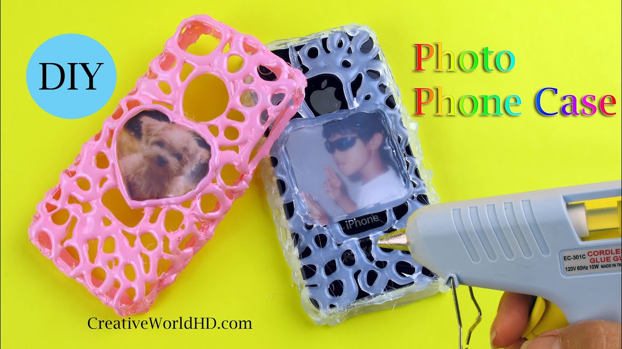 Diy How To Make Photo Phone Case With Hot Glue Gun By