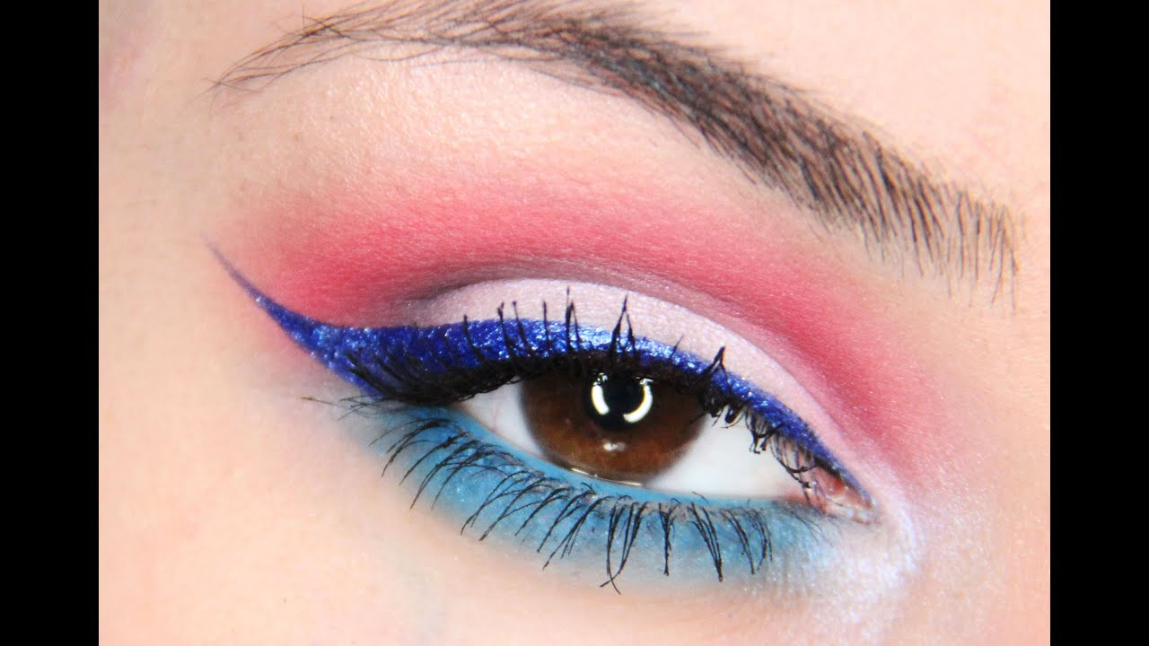 Red white blue eye makeup the world of make up easy and fast makeup for 4th of july you baditri Image collections