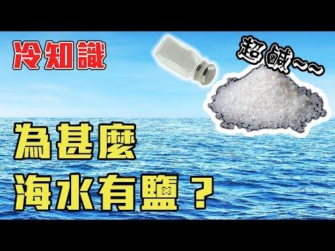 三分鐘了解「為甚麼海水有鹽?」【中文字幕】