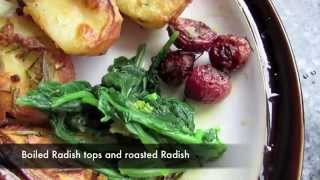 Roast Radishes & Boiled Tops