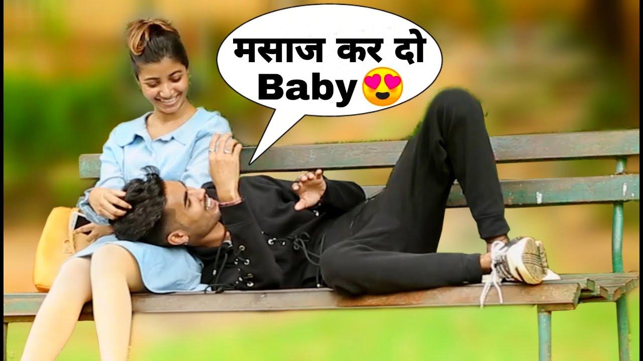 Sleeping In Lap(गोद) Of Girl Prank||Bharti Prank||Raju Bharti||