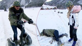 Die Geissens: Als Robert mit dem Segway im Schnee fährt passiert das...