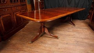 English Regency Mahogany Pedestal Dining Table Diner