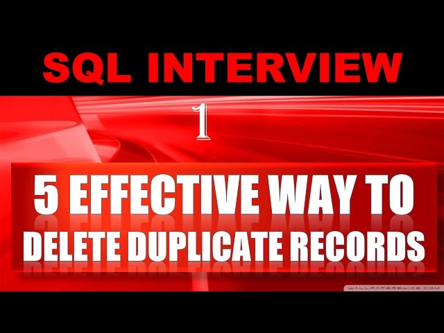 How to remove duplicates in oracle sql developer