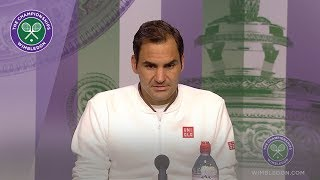 Roger Federer Quarter-Final Press Conference Wimbledon 2019