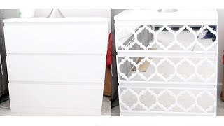 Diy Ikea Malm Drawer Chest Makeover   Mirrored Furniture