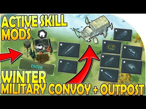ACTIVE SKILL MODS at WINTER MILITARY CONVOY + NORTHERN OUTPOST - Last Day on Earth Survival 1.11.3