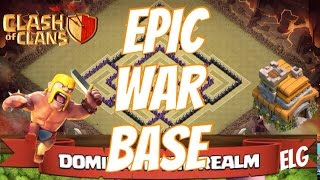 Clash of Clans Epic Clan War/Trophy Base | Town Hall 7 War Base | No Barbarian King Defensive Base
