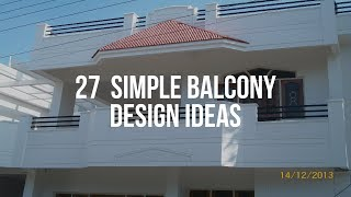 🔴 27  Simple Balcony Design Ideas