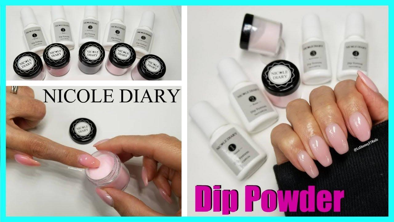 Nicole Diary Dip Powder Nail Kit Lashenny21nails Youtube
