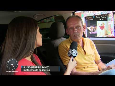 SP: Novas regras para os motoristas de aplicativo são anunciadas - SBT Brasil (12/07/17)