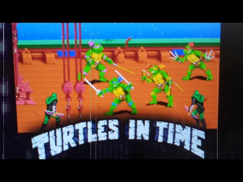 TMNT Turtles in Time arcade 1up from MuneyMike Midwest Retro Gaming