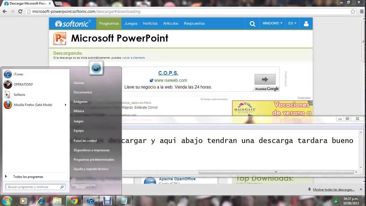 como descargar powerpoint 2014 youtube