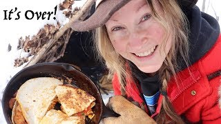 Quesadillas on a Campfire & Channel Update | 28 Day Fire Challenge | DAY 28!