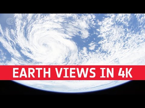 Earth views from space  1 hour long in 4K!