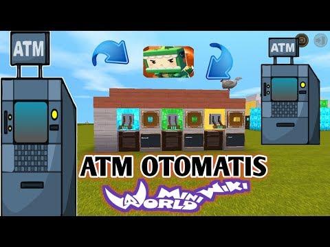 Cara Membuat Atm Otomatis Di Mini World Block Art Indonesia - 동영상