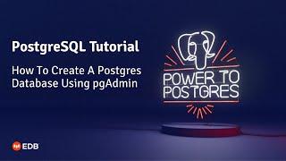 PgAdmin PostgreSQL Kullanarak Bir Veritabanı Oluşturma