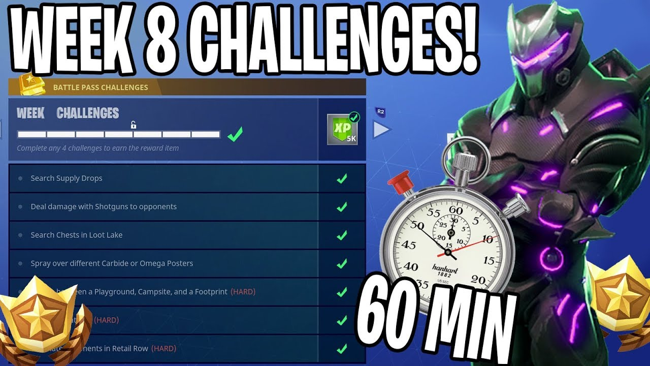 HOW I COMPLETED ALL OF WEEK 8 CHALLENGES IN UNDER 60 MINUTES!!