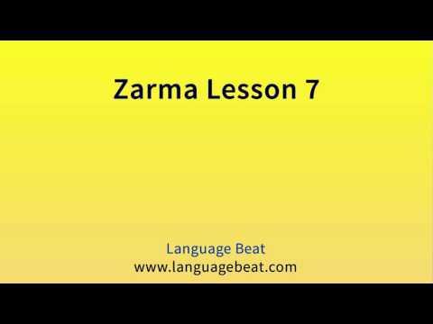 Learn Zarma   :  Lesson 7  -  Zarma  Phrases for Beginners