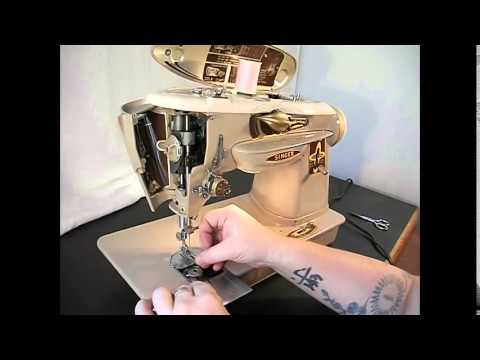 Demonstration Video Of A Vintage Singer 40A Sewing Machine YouTube Cool Singer Sewing Machine 500a Manual
