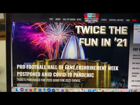 2020 Pro Football Hall Of Fame Game Cancelled, Does This Mean No NFL 2020 Season?