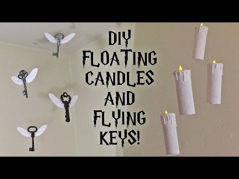 DIY Harry Potter Floating Candles and Flying Keys   Room/Party decor