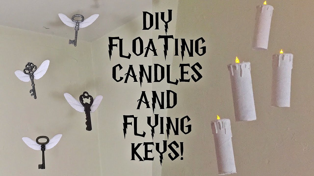 DIY Harry Potter Floating Candles and Flying Keys RoomParty