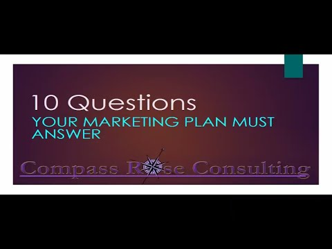 10 Questions YOU Need to Answer in Your Marketing Plan