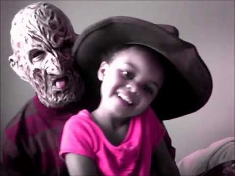 [Hangs Out With Freddy Krueger!]  sc 1 st  YouTube & Bravest 3 Yr Old Girl In World! [Hangs Out With Freddy Krueger ...