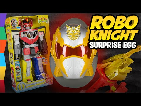 ROBO KNIGHT Giant Surprise Egg w Imaginext Power Rangers Toys Megazord and Megaforce Sword by ToyRap