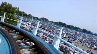 cedar point blue streak on ride front row pov july 4 2015