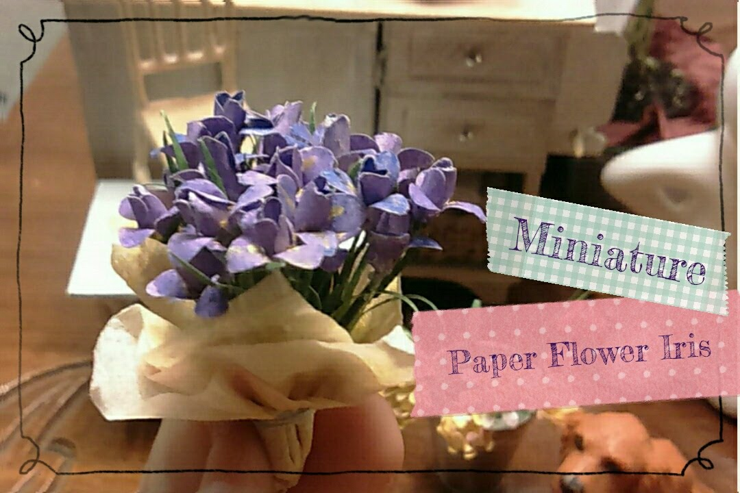Diy paper flowers tutorial using paper punch miniature purple iris diy paper flowers tutorial using paper punch miniature purple iris easy crafts youtube mightylinksfo