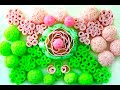 ASMR Beautiful soapy flower. Delicate soap balls. Soap tubes. Sunny video.