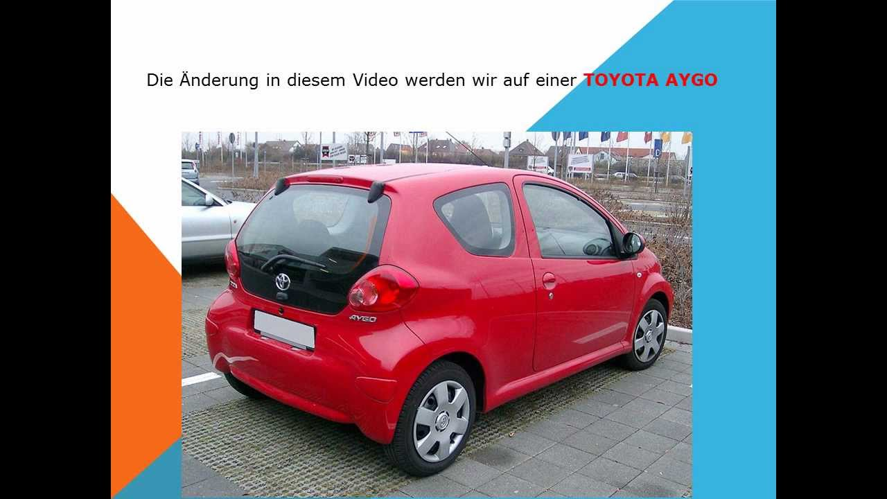 so ersetzen sie den innenraumfilter auf einem toyota aygo youtube. Black Bedroom Furniture Sets. Home Design Ideas
