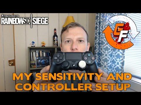 how to change controller sensitivity on pc rainboe six siege