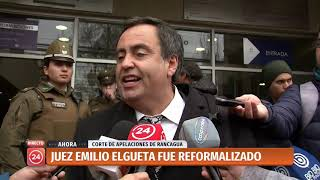 Reformalizan a suspendido juez Emilio Elgueta