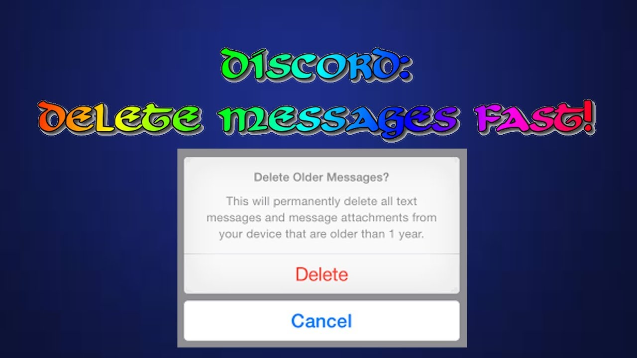 Discord - How to Delete Messages INSANELY Fast! |SCRIPT|