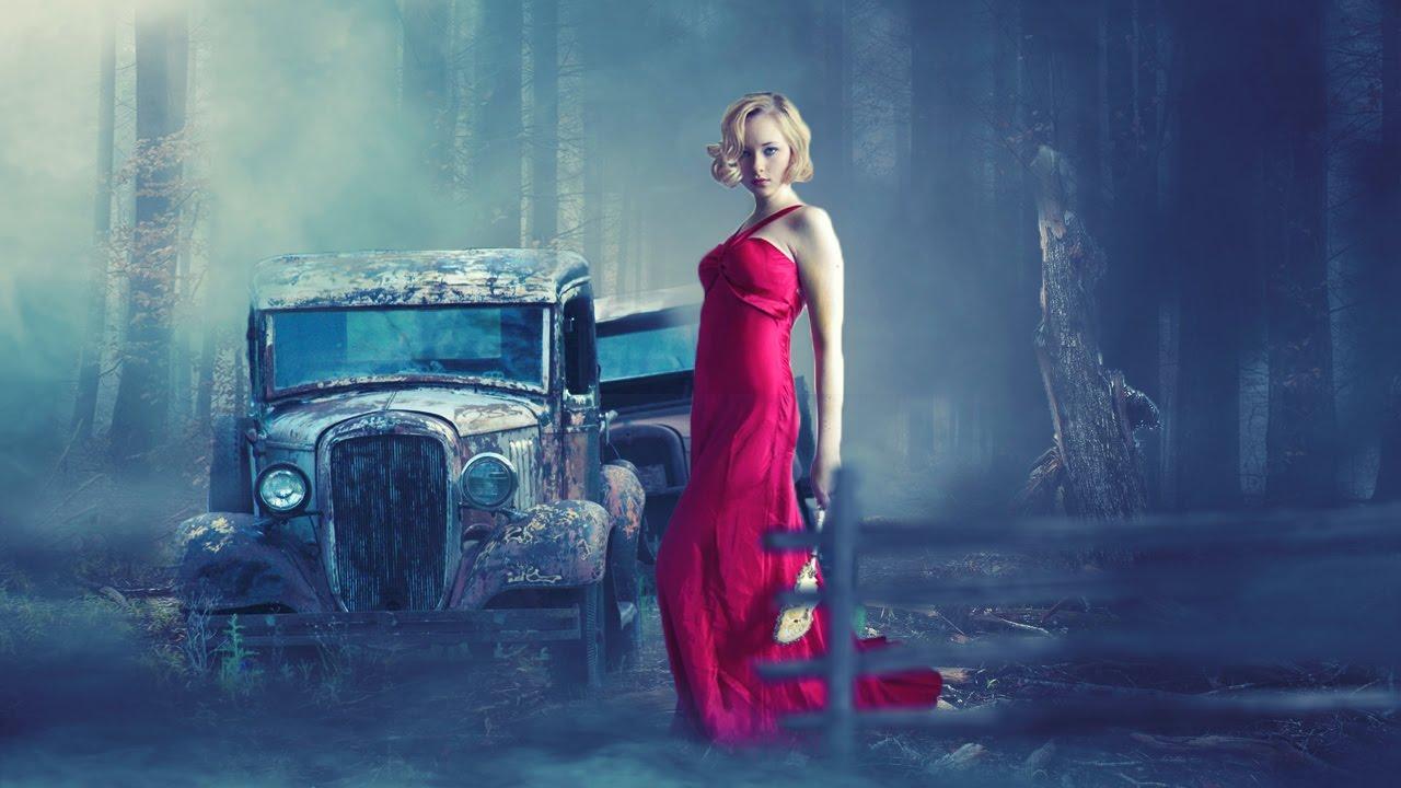 Red dress effect fire