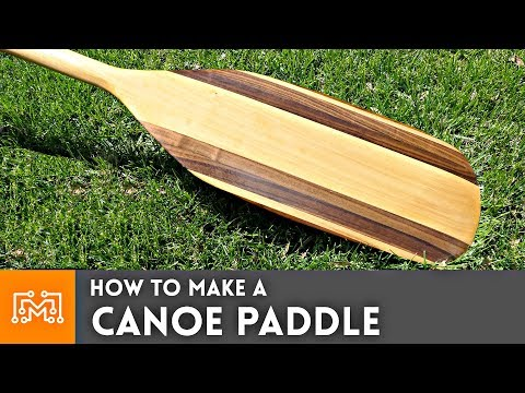 How to Make Canoe Paddle // Woodworking