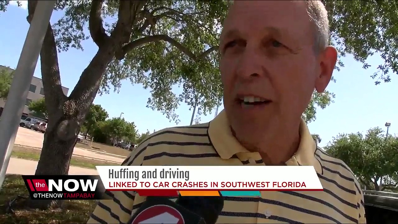 Multiple incidents of 'huffing' air duster while driving reported