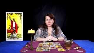 Видео курс, обучение раскладам карт таро, как гадать и толкование карт. (Первый аркан, Маг))