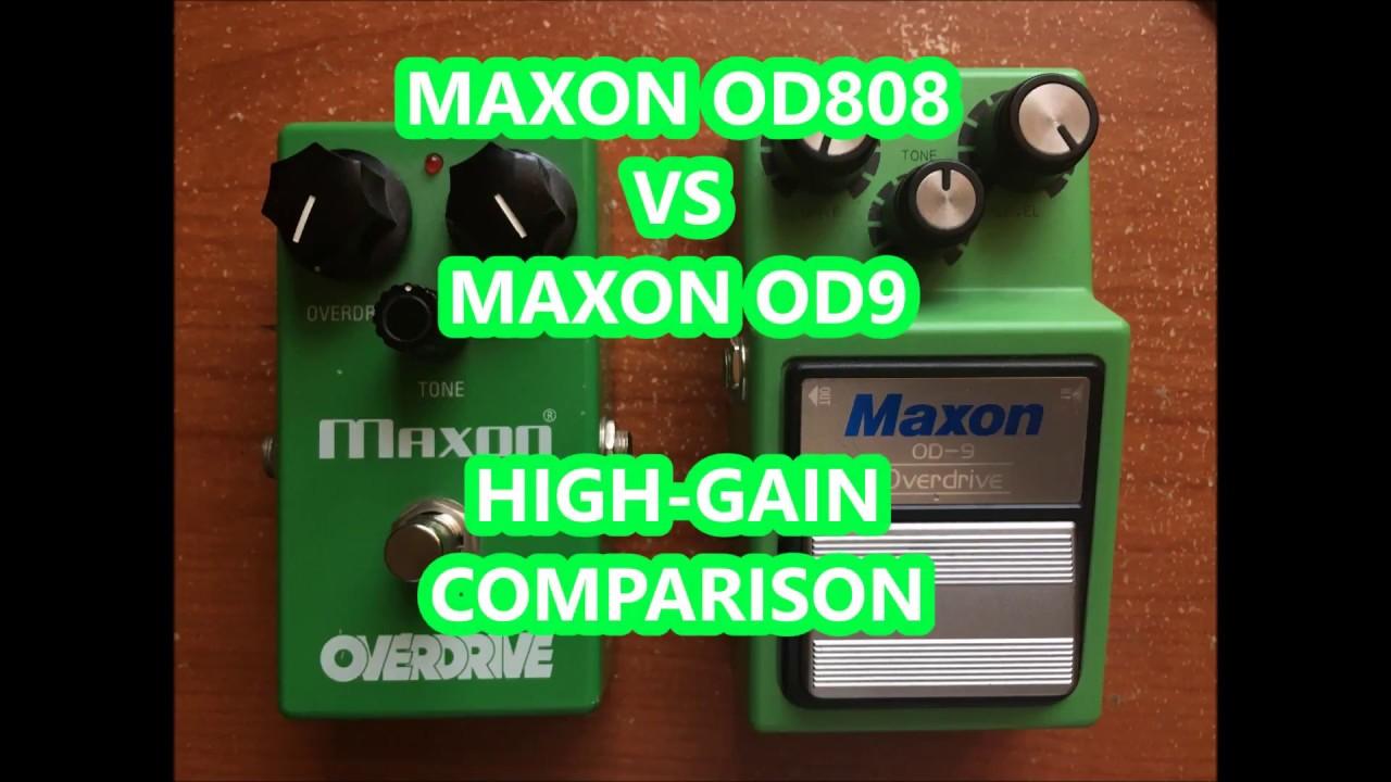 Maxon OD808 VS Maxon OD9 - High Gain Comparison