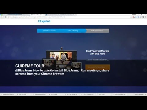 @BlueJeansNet How to install BlueJeans,  Run meetings, share screens from your Chrome browser