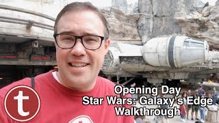 OPENING DAY! Star Wars: Galaxy's Edge Walkthrough