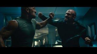 «Форсаж 7» Люк Хоббс против Декарда Шоу. Первая драка