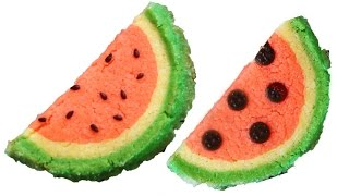 How To Make Watermelon Cookies 수박 쿠키 만들기 - 한글 자막
