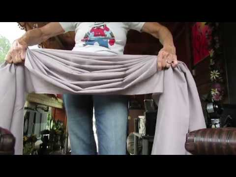 How to fold a swag curtain scarf valance