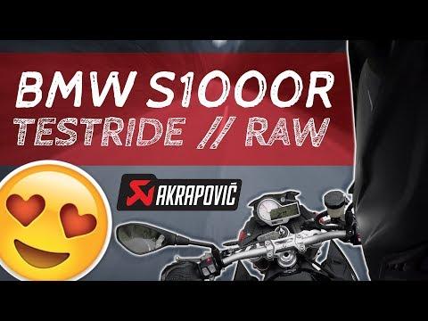 2017 BMW S1000R Test Ride ★ RAW! no music! ★ Akrapovic Exhaust Sound & Crackles