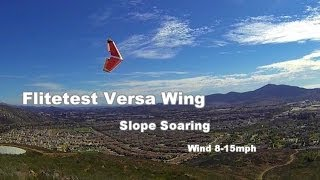Flitetest Versa Wing Slope Soaring Glider with Blue Skies and Dramatic Clouds